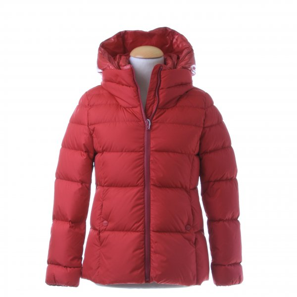 Herno - PIUMINO GIRL CILIEGIA POLAR TECH