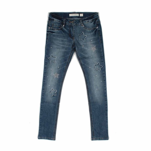Elsy - JEANS GIRL CON STELLE E STRASS