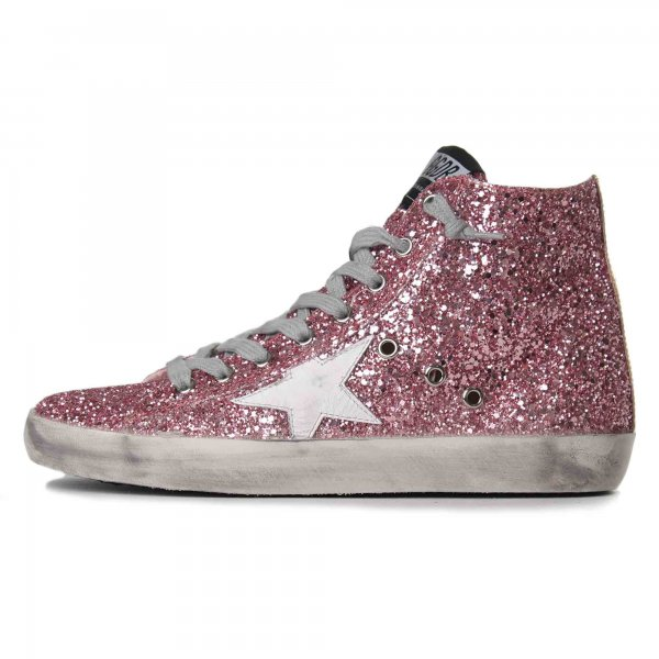 Golden Goose - FRANCY PINK GLITTER GOLD TEEN