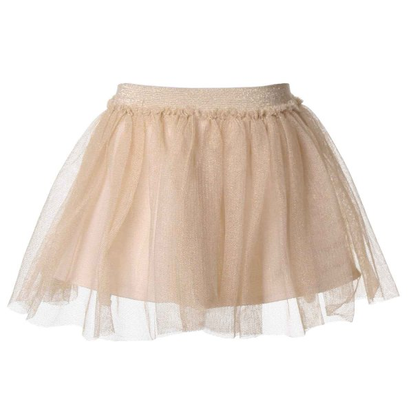 Elsy - GONNA CORTA BABY TULLE ORO LUREX