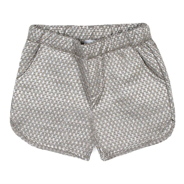 Dreamers - SHORTS BAMBINA ARGENTO-LUREX