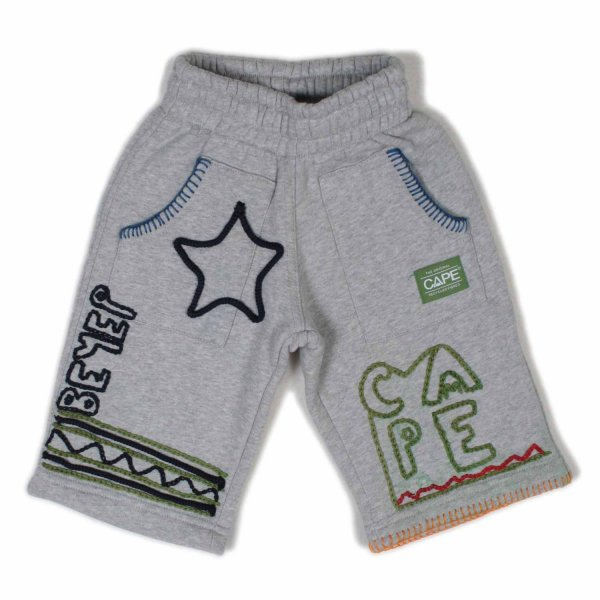 Cape - SHORTS JUNIOR GRIGIO CON RICAMI