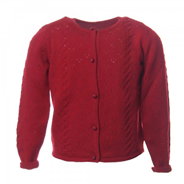 Dolce & Gabbana - CARDIGAN ROSSO BAMBINA IN CACHEMIRE