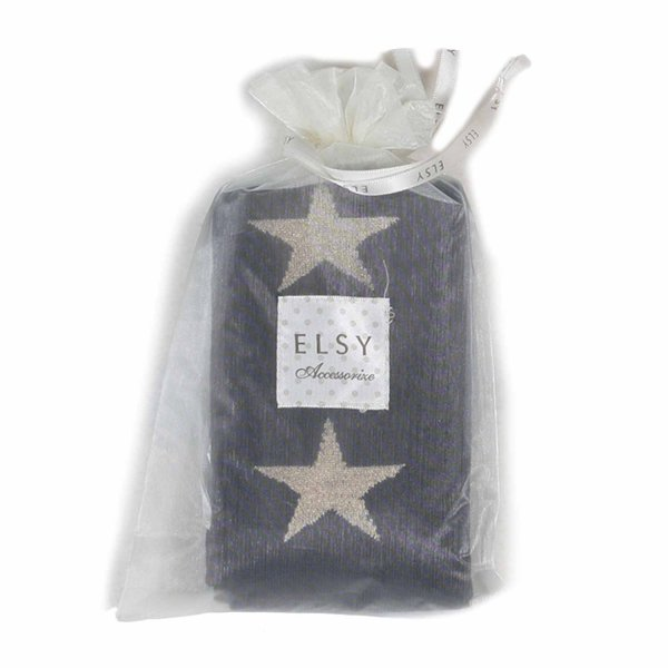 Elsy - LEGGINGS GIRL BLU CON STELLE ORO