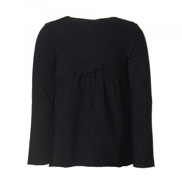 Babe & Tess - Pullover Bambina Blu Con Toppe Paillettes