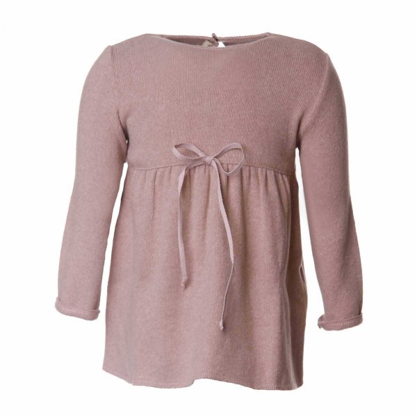 Babe & Tess - Pullover bimba rosa con toppe paillettes