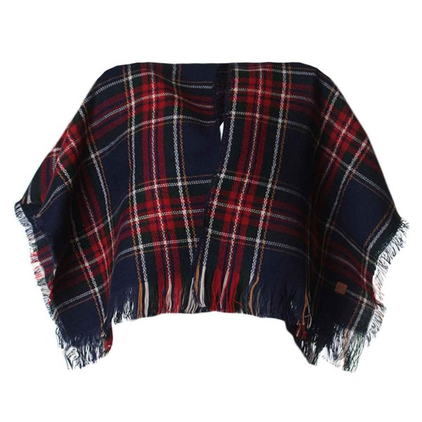 American Outfitters - PONCHO GIRL A QUADRI