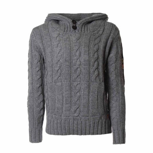 American Outfitters - PULLOVER BOY GRIGIO