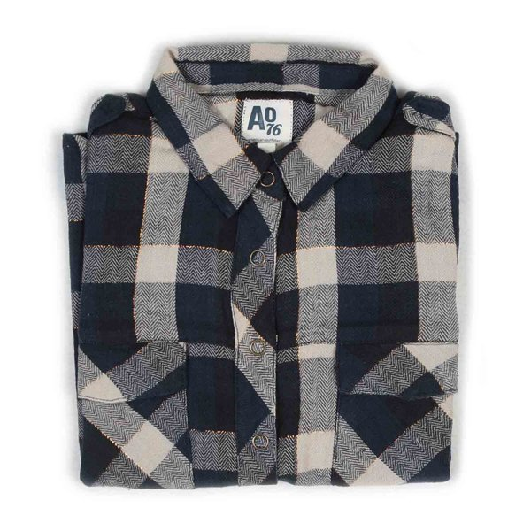 American Outfitters - CAMICIA BLU GIRL