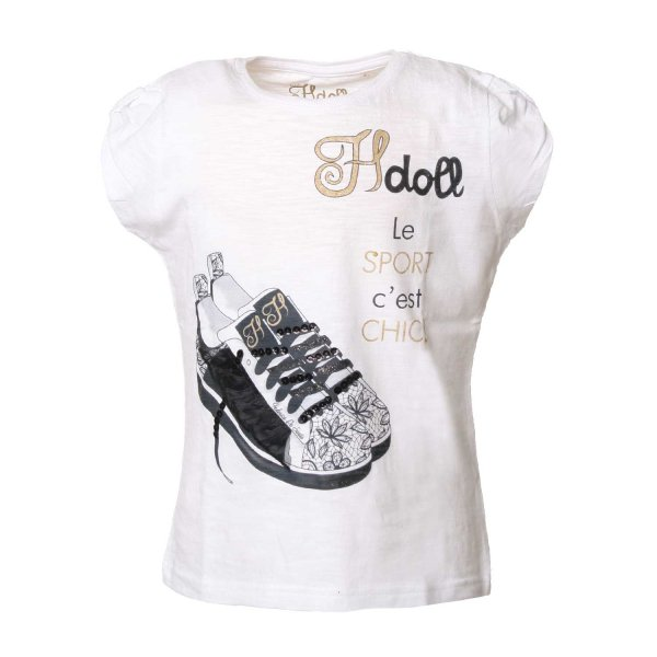 Hdoll - T-SHIRT BAMBINA SNEAKERS NERE