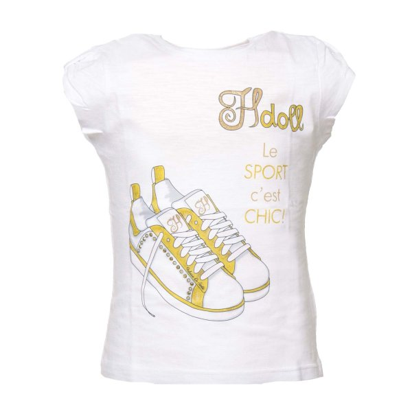 Hdoll - T-SHIRT BAMBINA SNEAKERS GIALLE