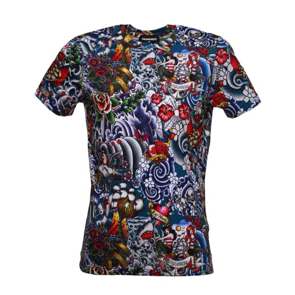 Dsquared2 - T-SHIRT MULTICOLOR TEEN