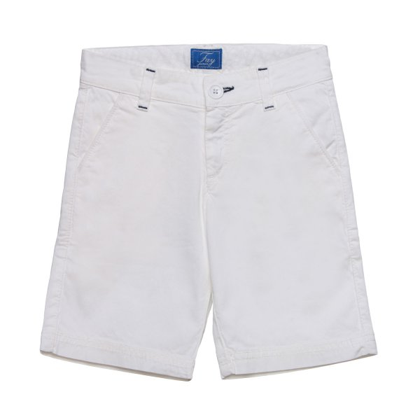 Fay Junior - Bermuda Chino Boy Bianco