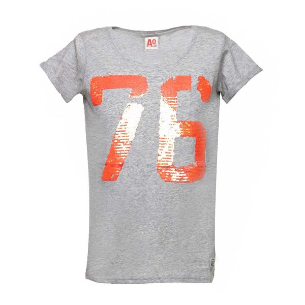 American Outfitters - T-SHIRT GRIGIA 76