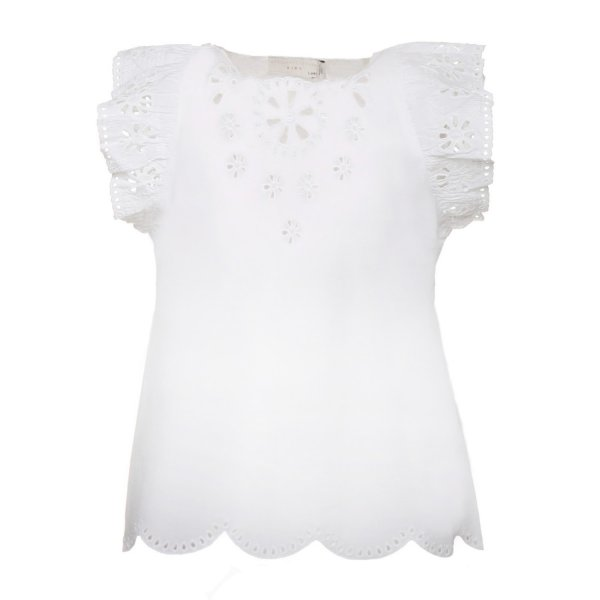 Stella Mccartney - TOP BIANCO RICAMATO